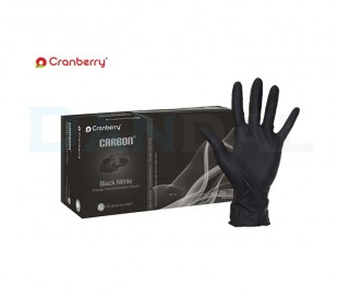 دستکش نیتریل بدون پودر Cranberry - Carbon