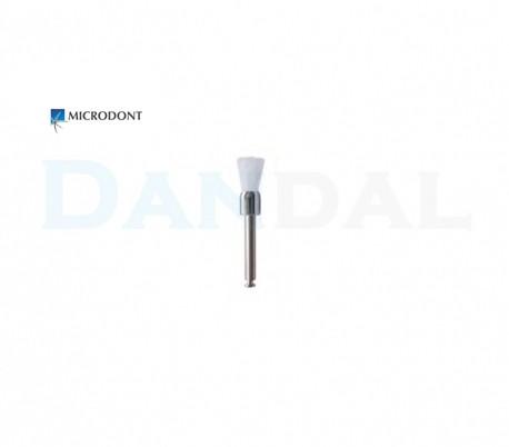 Microdont - White Nylon Prophy Brush - Flat