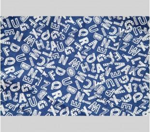 ست اسکراب مردانه طرح حروف سفید مدل AJC7 - شایگان
