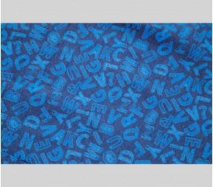 ست اسکراب زنانه طرح حروف آبی مدل AJC7 - شایگان