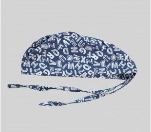 کلاه طرح حروف سفید - شایگان