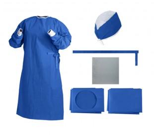 پک جراحی استریل کامل آبی - احسان طب پارسیان