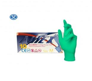 دستکش نیتریل بدون پودر Nitex ده عددی - حریر