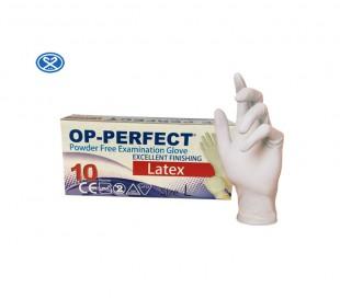 دستکش لاتکس بدون پودر Op-Perfect ده عددی - حریر