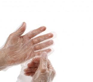 دستکش نایلونی لفاف دار - سپید