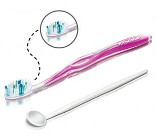 Trisa - Profilac Complete Brush with dental mirror