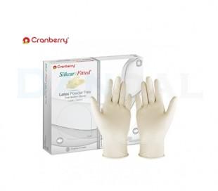 دستکش بدون پودر Cranberry - SilkCare Fitted