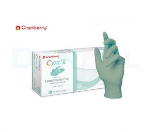 دستکش لاتکس بدون پودر Cranberry - Cyntek