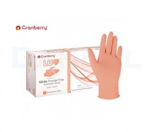 دستکش نیتریل بدون پودر Cranberry - LUV