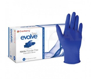 دستکش نیتریل بدون پودر Cranberry - Evolve