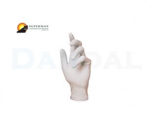 دستکش لاتکس بدون پودر Supermax - Flex