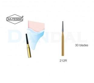 فرز کارباید مخروطی ته صاف 12 و 30 پره توربین - DiaTessin