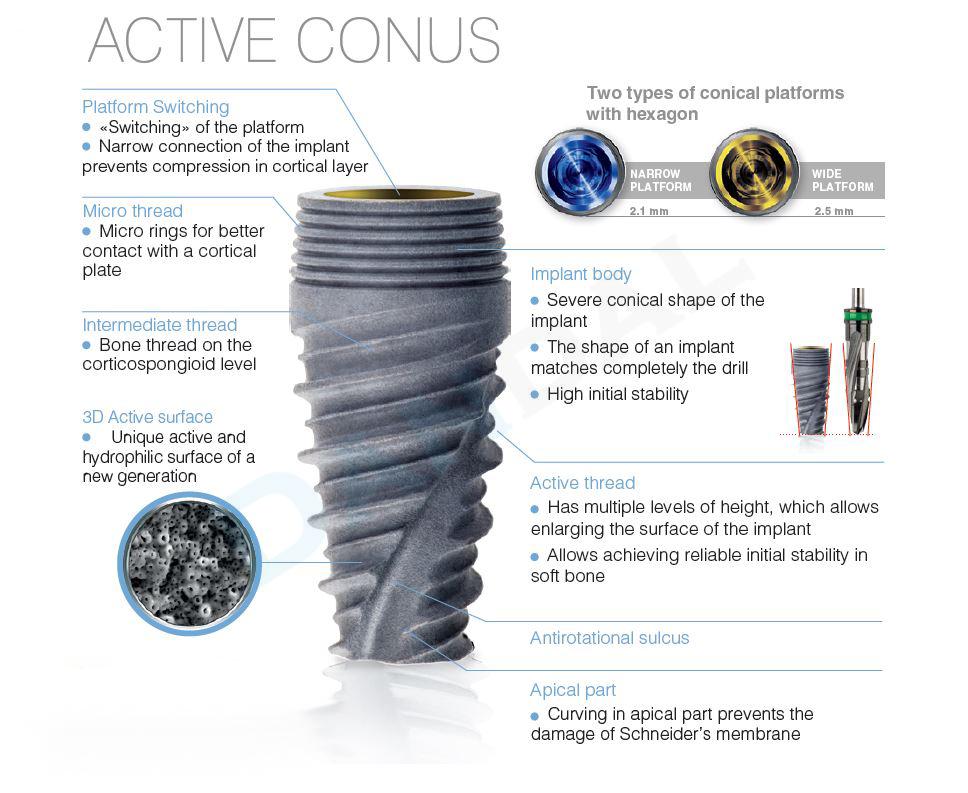 alpha dent active conus